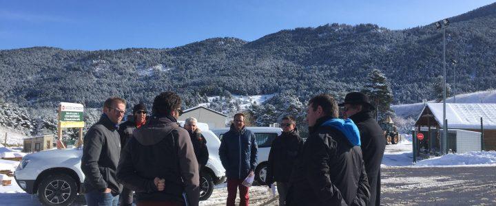 Une délégation d'élus en déplacement sur la plateforme de Matemale