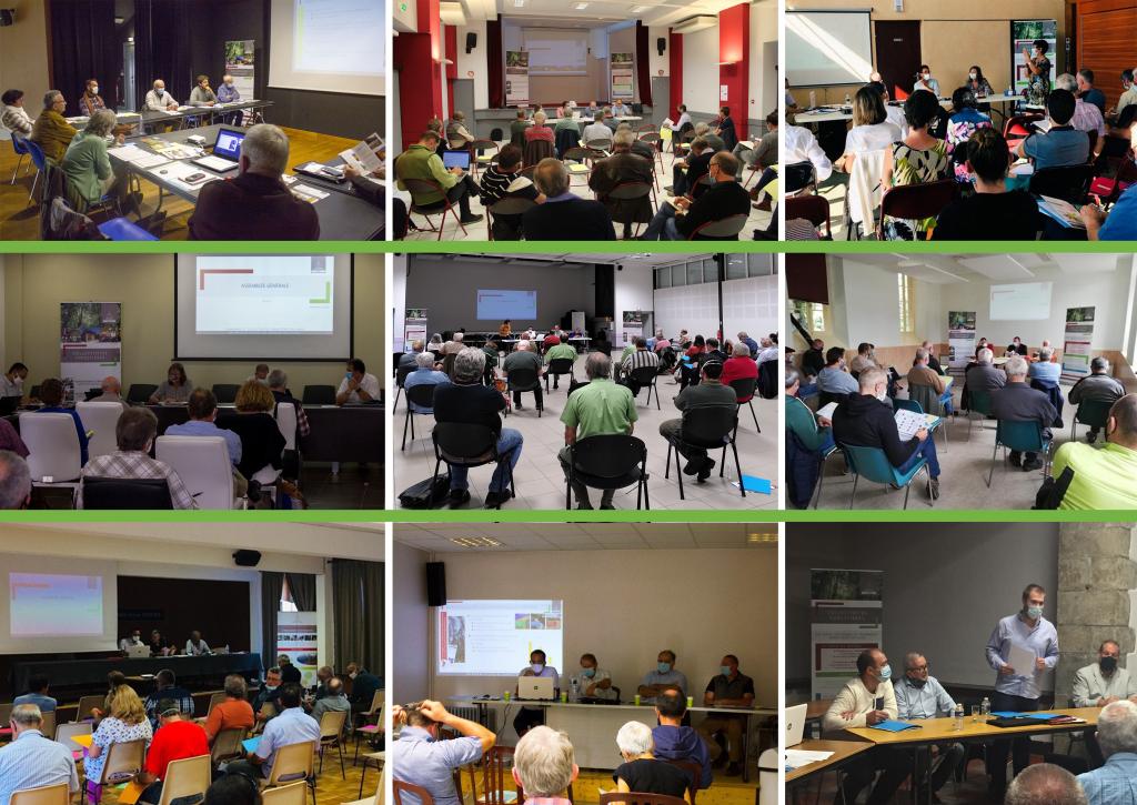 assemblées générales sur les différents départements de la région Occitanie